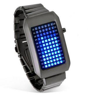 Relógio Digital de LEDs Azuis