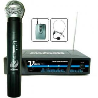 Central com Microfones Sem Fios
