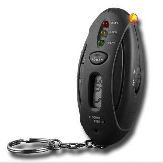 Medidor da Taxa de Alcoolémia + Porta-Chaves + Lanterna + Temporizador
