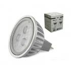 Lâmpada 3 LEDS GU5.3 Branco Frio 3.2W 10-30VDC