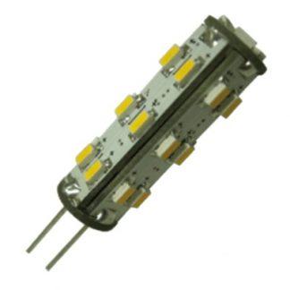 Lâmpada 27 LEDS G4 Branco Frio 1.3W 10-30VDC