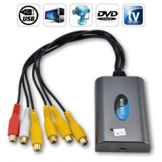 Sistema de Segurança DVR / Gravador Digital AV (4 Canais Vídeo
