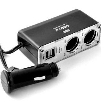 Carregador Hub (Dupla de Isqueiro + 2 Portas USB)