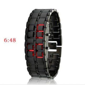 Relógio Digital de LEDs Vermelhos