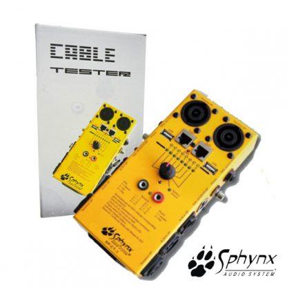 Testador de Cabos XLR/RCA/Speakon/USB/Jack/DIN/RJ45 Sph