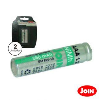 Bateria NI-MH AAA 1.2v 1100ma 4X Blister Joi