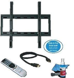 "Kit Suporte LCD/Plasma 23/46"" Comando/Cabo HDMI/Conj. Limpeza"