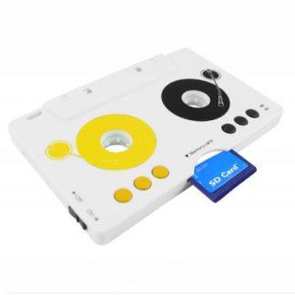 Adaptador de Cassette p/ Leitor de Cartões SD/MMC + Leitor mp3