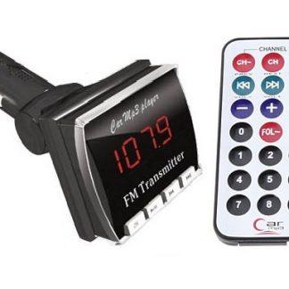 Transmissor Modulador Fm Sem Fio c/ porta USB e slot SD + Controlo Remoto