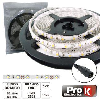 Fita 300 LED 3528 Branco Frio 12V - 5M