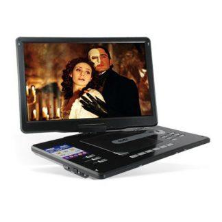 """Leitor de DVD Portátil c/ écrã giratório LCD TFT 15"""""""