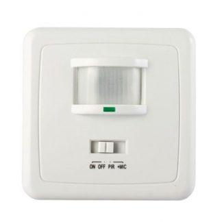 Detector de Movimento PIR e Som p/ Embutir
