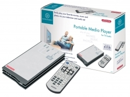 Media Player Portátil / Disco rígido externo de 40 Gb + controlo remoto