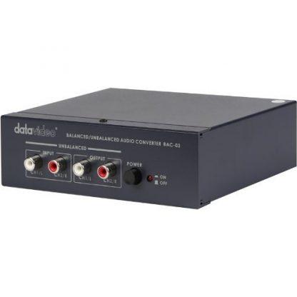 Conversor Bidireccional de Áudio Balanceado/Não Balanceado Datavideo BAC-03