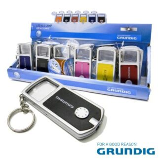 Porta-Chaves c/ Lanterna LED e Lupa Grundig Cor Vermelho