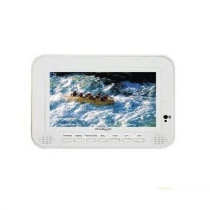 "TV Digital LCD TFT 7"" 16:9 c/ portas USB e SD/MMC"