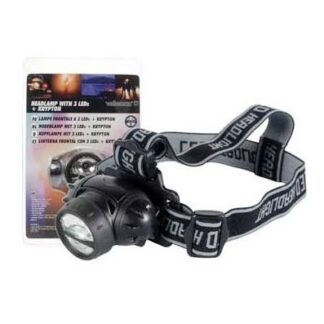 Lanterna de cabeça 3 LEDs Kripton
