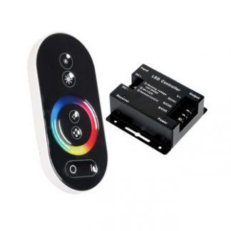 Controlador p/ Fita de LEDs RGB 12V c/ comando touch