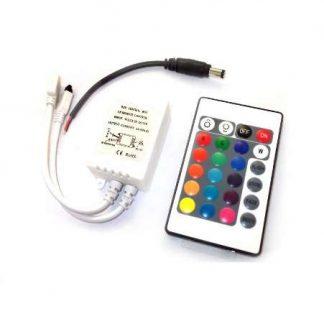 Comando + Controlador para fita LED RGB 230V